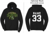 Timberline Fastpitch Port & Company Core Fleece Pullover Hooded Sweatshirt (Black Variant)