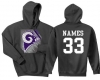 Rams Grey football hood